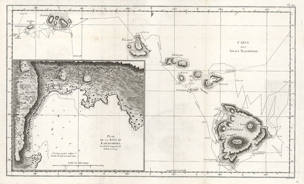 11-Hawaii, Australia & Oceania and Hawaii Map By James Cook