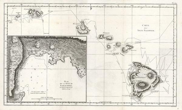 65-Hawaii, Australia & Oceania and Hawaii Map By James Cook