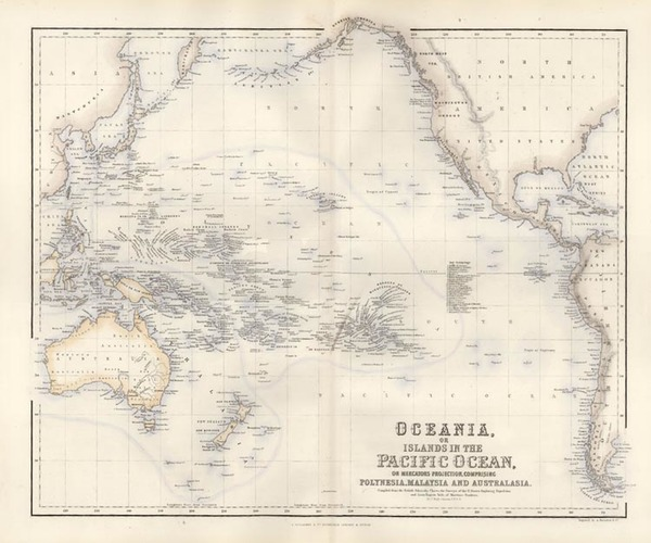22-World, Australia & Oceania, Pacific, Oceania and Other Pacific Islands Map By Archibald Ful