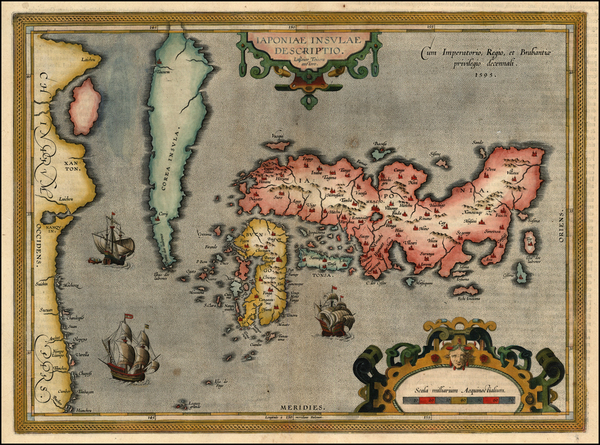 88-Asia, Japan and Korea Map By Abraham Ortelius