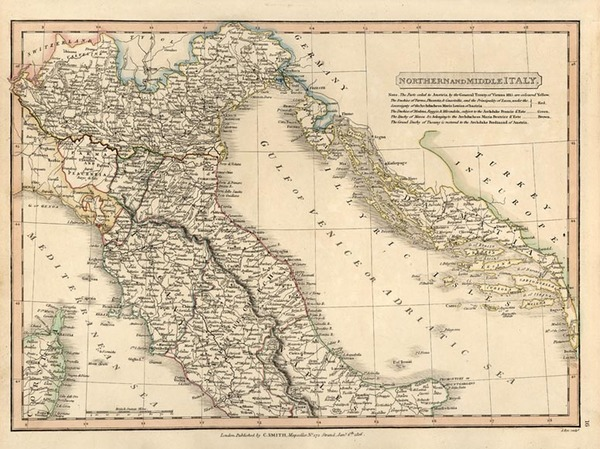 97-Europe and Italy Map By Charles Smith