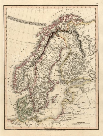 46-Europe and Scandinavia Map By Charles Smith
