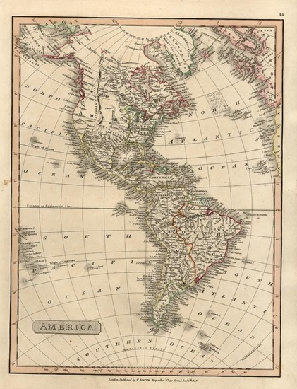 31-South America and America Map By Charles Smith