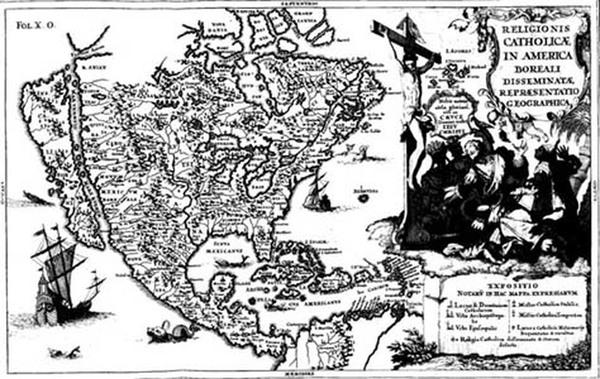 49-North America, Baja California and California Map By Heinrich Scherer