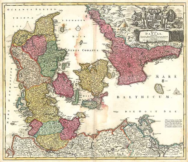 21-Europe, Germany and Scandinavia Map By Johann Baptist Homann