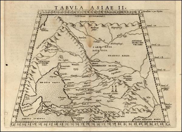 23-Europe, Russia, Asia and Russia in Asia Map By Girolamo Ruscelli