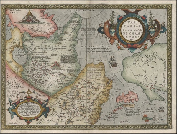 16-Asia, Japan, Central Asia & Caucasus and California Map By Abraham Ortelius