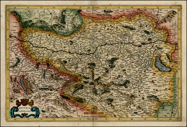 58-Austria and Czech Republic & Slovakia Map By Gerhard Mercator