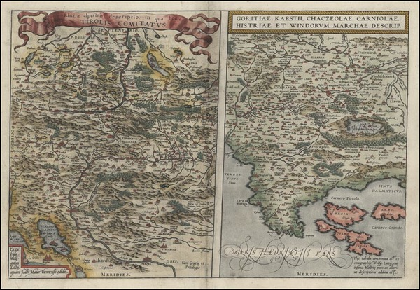14-Europe, Austria, Balkans and Italy Map By Abraham Ortelius