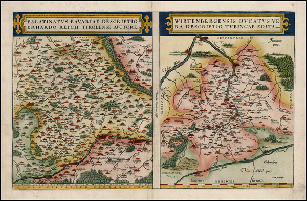 98-France and Germany Map By Abraham Ortelius