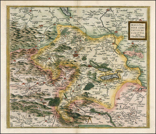 10-Europe and Germany Map By Abraham Ortelius