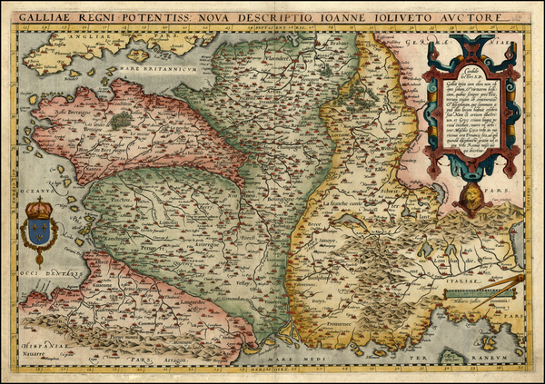 94-Europe, Switzerland, France and Italy Map By Abraham Ortelius