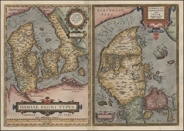15-Europe and Scandinavia Map By Abraham Ortelius