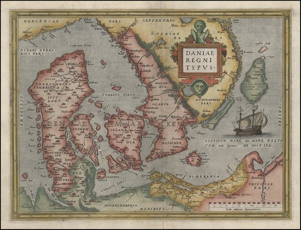 4-Europe and Scandinavia Map By Abraham Ortelius