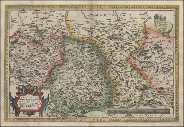 2-Europe, Germany and Czech Republic & Slovakia Map By Abraham Ortelius