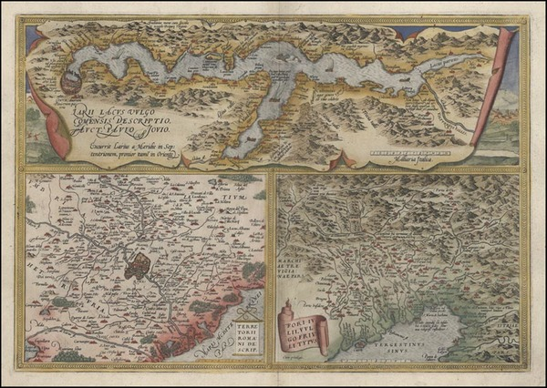 77-Europe and Italy Map By Abraham Ortelius