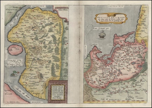 70-Germany, Poland and Baltic Countries Map By Abraham Ortelius