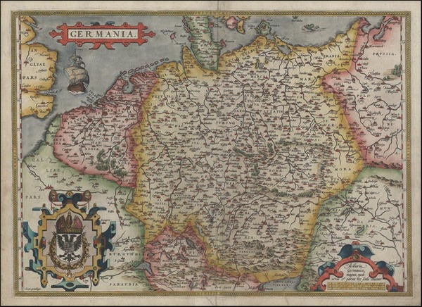 38-Europe, Netherlands, Germany, Poland and Baltic Countries Map By Abraham Ortelius