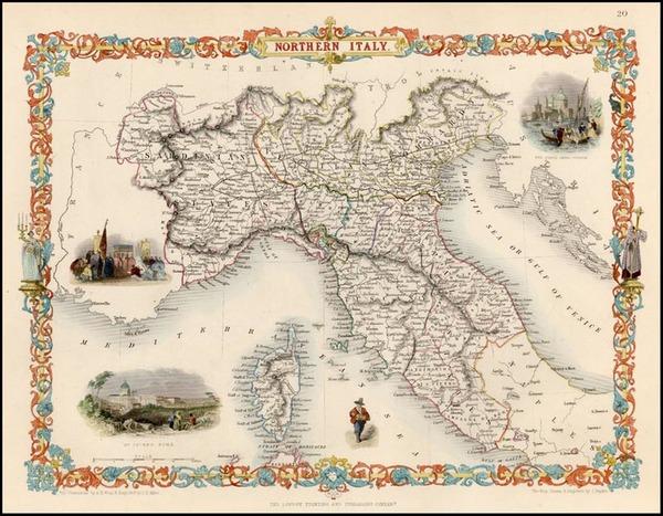 75-Europe, Italy, Mediterranean and Balearic Islands Map By John Tallis