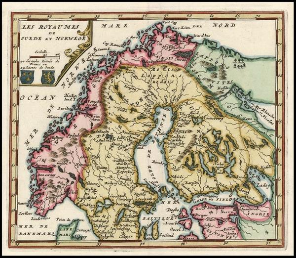 96-Europe and Scandinavia Map By Nicolas de Fer