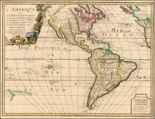 87-South America, Australia & Oceania, Oceania, New Zealand and America Map By Jean-Baptiste N