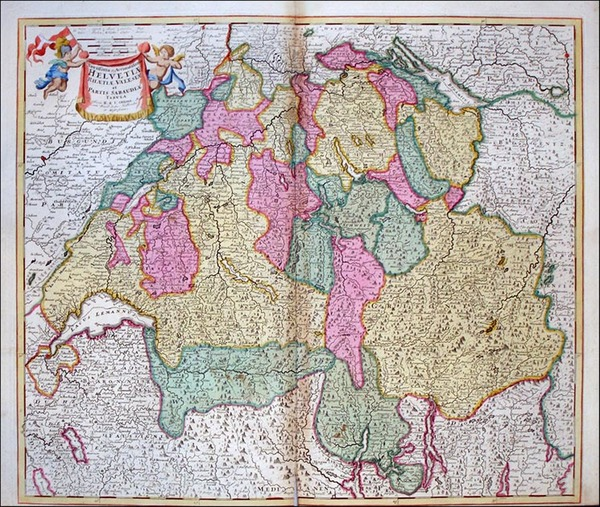 80-Europe, Switzerland, France and Italy Map By Reiner & Joshua Ottens
