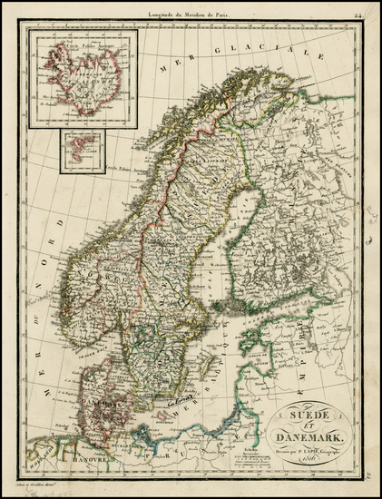 30-Europe and Scandinavia Map By Alexandre Emile Lapie