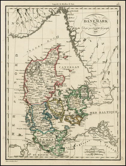 92-Europe and Scandinavia Map By Alexandre Emile Lapie