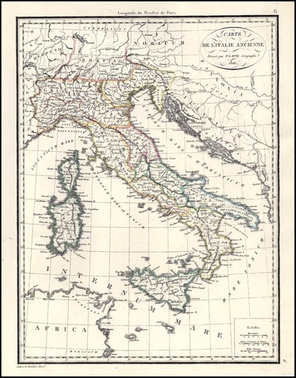 95-Europe, Italy and Balearic Islands Map By Alexandre Emile Lapie