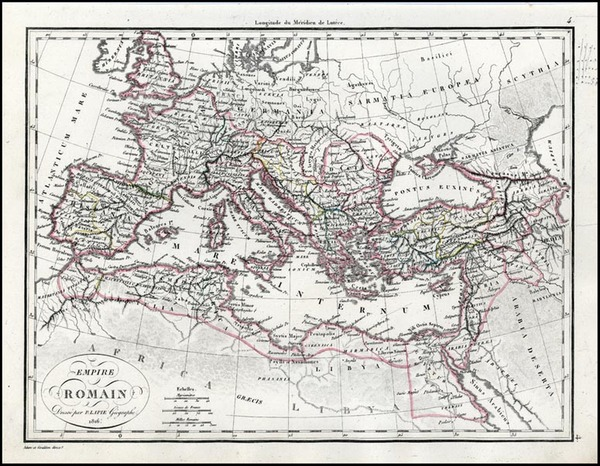 30-Europe, Europe, Italy and Mediterranean Map By Alexandre Emile Lapie