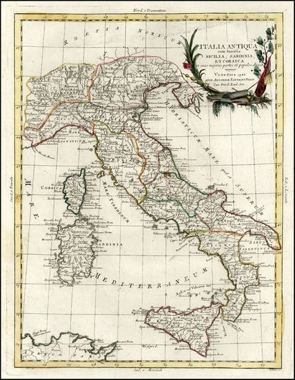 2-Europe, Italy and Balearic Islands Map By Antonio Zatta