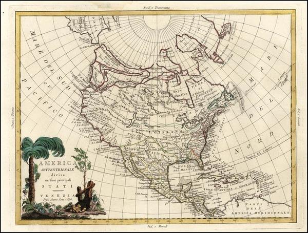 42-Alaska and North America Map By Antonio Zatta