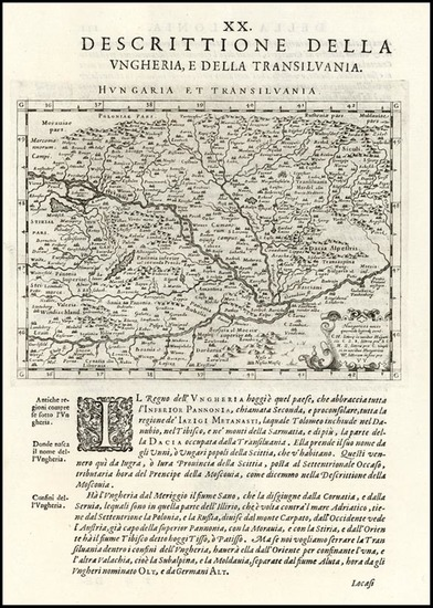 0-Europe, Hungary and Romania Map By Giovanni Antonio Magini