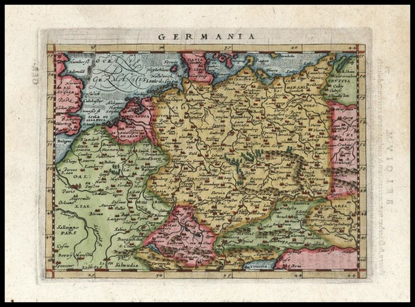 53-Europe, Netherlands, Germany, Poland and Baltic Countries Map By Giovanni Antonio Magini