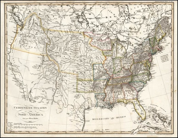 64-United States and Midwest Map By Adolf Stieler