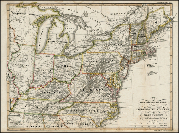 22-United States and Midwest Map By Adolf Stieler