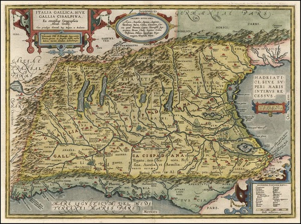 72-Europe, Switzerland and Italy Map By Abraham Ortelius