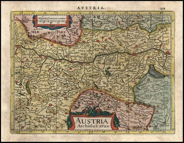 68-Europe and Austria Map By Jodocus Hondius