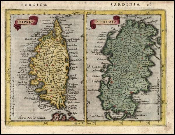 100-Europe, France, Italy and Balearic Islands Map By Jodocus Hondius - Gerhard Mercator