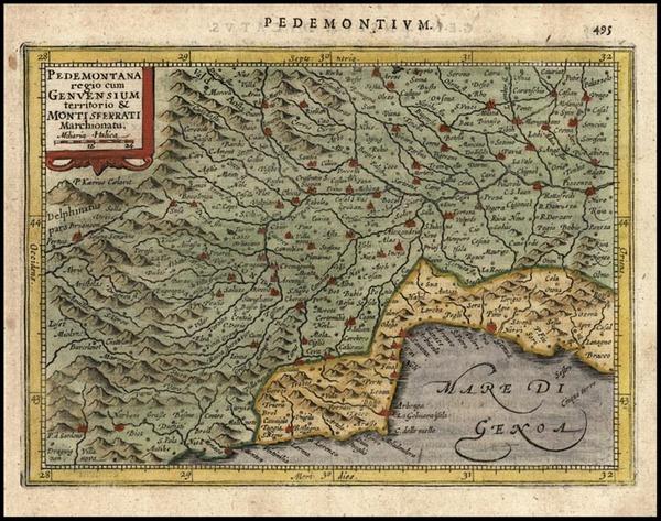 7-Europe and Italy Map By Jodocus Hondius - Gerhard Mercator