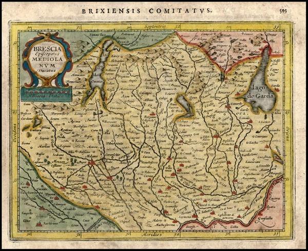 49-Europe and Italy Map By Jodocus Hondius - Gerhard Mercator