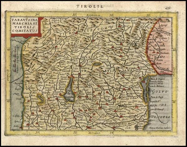91-Europe and Italy Map By Henricus Hondius - Gerhard Mercator