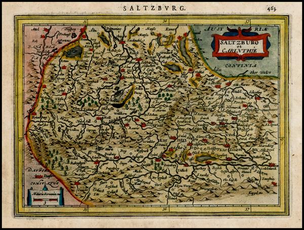 31-Austria Map By Jodocus Hondius - Gerhard Mercator