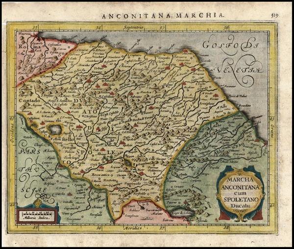 23-Europe and Italy Map By Jodocus Hondius - Gerhard Mercator