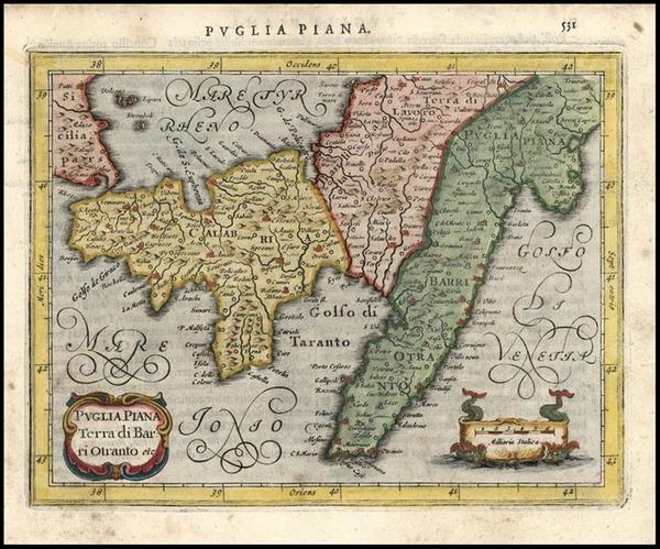 63-Europe and Italy Map By Jodocus Hondius - Gerhard Mercator