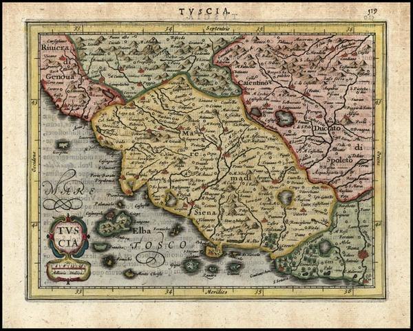 37-Europe and Italy Map By Jodocus Hondius - Gerhard Mercator