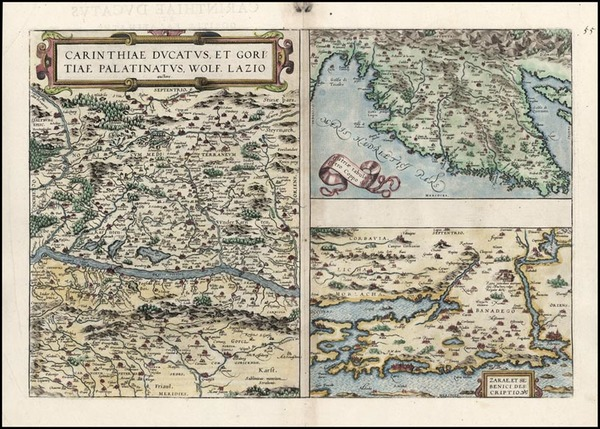 49-Europe, Hungary and Balkans Map By Abraham Ortelius