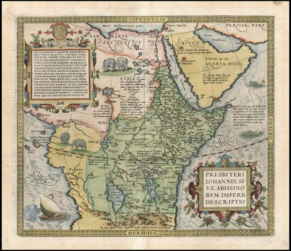 51-Africa, Africa, North Africa, East Africa and West Africa Map By Abraham Ortelius