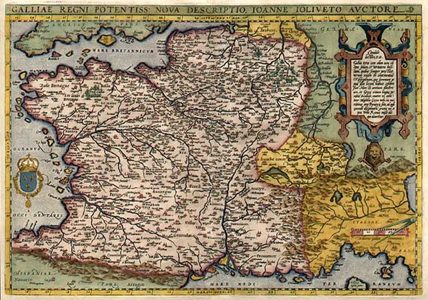 29-Europe, Switzerland, France and Italy Map By Abraham Ortelius