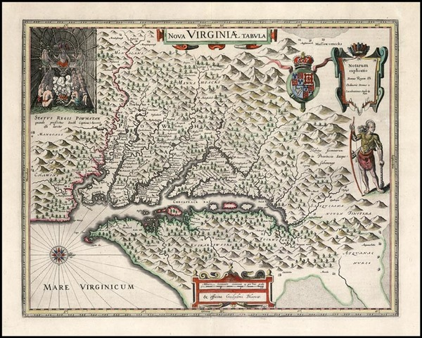 87-Mid-Atlantic and Southeast Map By Willem Janszoon Blaeu